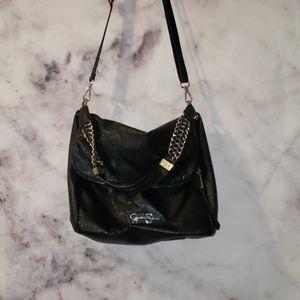 Jessica Simpson black leather shoulder bag